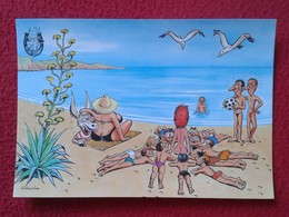POSTAL POST CARD CARTE POSTALE BALEARIC ISLANDS SPAIN BURRO BURRITO PLAY DONKEY ASNO ÂNE ASINO CARTOON HUMOR EROTIC VER - Anes