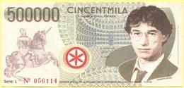 500000 Lire - CinCentmila - Pseudo Banconota Della Banca Della Padania Libera E Indipendente - Gadget Politico - Lega No - Italia
