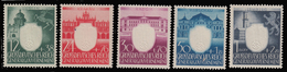Polonia - 4° Anniversario Del Governo Generale.- Serie 5 Valori - 1943 - Gouvernement Général