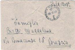 """1945-lettera In Franchigia """"Posta Da Campo / C / 13.1.45"""" Indicazione Manoscritta Feldpost 86789 B - 1944-45 République Sociale"""