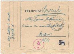 """1944-biglietto Postale """"Posta Da Campo / D / 14.9.44"""" Indicazione Manoscritta Feldpost 85858 A - 1944-45 République Sociale"""