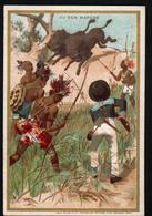 Chromo Au Bon Marche, 1885, VM19, 82x121mm, Aventures D'un Garcon Chez Les Sauvages, Les Bisons - Au Bon Marché