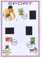 FDC  Du 14/6/2010. Grands événements Sportif 2010 - Grote Sportevenementen. N° 4043/45. Cote 2018: 10 €. - 2001-10