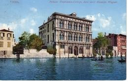 VENEZIA -Palazzo Vendramin-Calergi, Dove Mori Riccardo Wagner, Ed. Purger Photochoromiekarte München, 10.8.1909 - Venezia (Venedig)