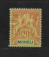 MOHELI TYPE GROUPE N° 6 NEUF * - COTE = 14.50 € - Moheli (1906-1912)