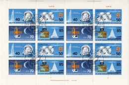 Germany / DDR Sheetlet Of 4 Sets - Space