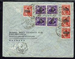 EGYPTE - Affranchissement De Timbres Surchargés Sur Enveloppe De Alexandria Vers Reutlingen-Pfullingen - B/TB - - Égypte