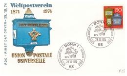 Bund -  FDC, 1974, Nr. 825 - BRD
