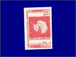 TERRES AUSTRALES Non Dentelés ** - 39, 75f. Traité Antarctique - Cote: 100 - Terres Australes Et Antarctiques Françaises (TAAF)