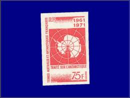 TERRES AUSTRALES Non Dentelés ** - 39, 75f. Traité Antarctique - Cote: 100 - French Southern And Antarctic Territories (TAAF)