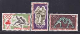 CAMEROUN N°  384 & 385, AERIENS N° 61 ** MNH Neufs Sans Charnière, TB (D8543) Sports Jeux Olympiques De Tokyo 1964 - Cameroon (1960-...)