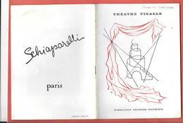 """Programme THEATRE PIGALLE - Dir G.DOUKING 1946 - """"HUON De BORDEAUX""""  JEAN PARADES JEAN MERCURE-MARIE DEA Pub Parfums - Programmes"""