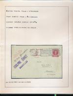 BELGIUM BELGIQUE HOUYOUX ENTIER DE BRUXELLES EN 1928 VERS L'ALLEMAGNE - 1922-1927 Houyoux