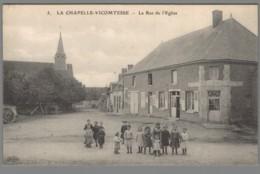 CPA 41 - La Chapelle Vicomtesse - La Rue De L'Eglise - France