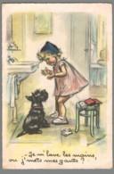 CPSM Illustrateur - Germaine Bouret - Je M'lave Les Mains Ou J'mets Mes Gants - Bouret, Germaine