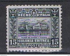 ERITREA:  1928/29  SOGGETTI  AFRICANI  -  15 C. GRIGIO  ARDESIA  S.G. -  D. 11  -  SASS. 131 - Erythrée