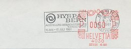 Postmark Cut Switzerland 1961 HYSPA Bern -Exhibition Health Care Gymnastics / Sport - Postzegels