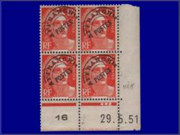 FRANCE Préoblitérés ** - 103 A, Bloc De 4, Cd 29/5/51: 12f. Gandon - Cote: 45 - Préoblitérés