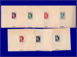 MONACO Epreuves De Luxe EPL - 287/93, 7 épreuves: Oeuvres Charitables Et Anti-Tb - Cote: 135 - Monaco
