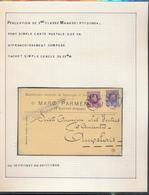 BELGIUM BELGIQUE HOUYOUX CARTE MARC PARMENTIER MANAGE MANAGE 1928 VERS AUVELAIS - 1922-1927 Houyoux