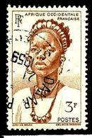 AFRIQUE OCCIDENTALE FRANÇAISE 44° 3f Lilas-brun Jeune Femme Du Togo (10% De La Cote + 0,15) - A.O.F. (1934-1959)