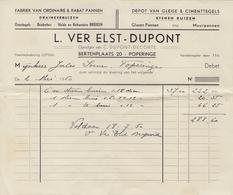 POPERINGHE:1950: Factuur Van/Facture De ##L.VER ELST – DUPONT, Bertenplaats, 20, POPERINGE ## Aan/à ## Jules SOENEN, ... - Belgique