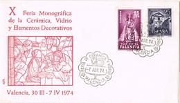 31900. Carta VALENCIA 1974. Feria Ceramica Y Vidrio. Sello PLAN SUR - 1931-Hoy: 2ª República - ... Juan Carlos I