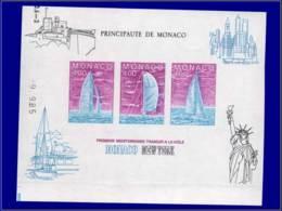 MONACO Blocs Feuillets ESS - 32, Essai Non Dentelé: Course Transatlantique à La Voile - Monaco