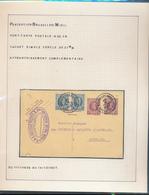 BELGIUM BELGIQUE HOUYOUX CARTE DE BRUXELLES EN 1927 VERS AUVELAIS TROUS D'ARCHIVE - 1922-1927 Houyoux