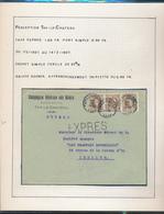 BELGIUM BELGIQUE HOUYOUX EXPRES COMPAGNIE GENERALE DES ACIERS THY LE CHATEAU  1928 VERS IXELLES - 1922-1927 Houyoux