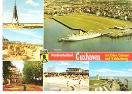 CUXHAVEN  - Mehrbildkarte U.a.mit Fährschiff MS VENUS - Handel