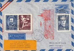 1953--Autriche Osterreich Austria Intero Postale 1sh. Con Affrancatura Complementare Volo Speciale Per Il Raid Artico Di - Posta Aerea