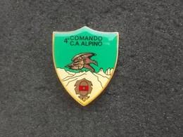 Distintivo Vintage Alpini E.I.  4° Comando Corpo D'Armata Alpino Marcato - Esercito