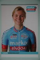 CYCLISME:LAURA VERDONSCHOT - Cyclisme