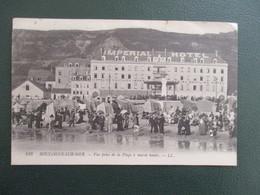 CPA 62 BOULOGNE SUR MER VUE PRISE DE LA PLAGE ANIMEE IMPERIAL HOTEL - Boulogne Sur Mer