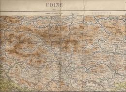 UDINE (ITALIE) - ANCIENNE CARTE GÉOGRAPHIQUE MILITAIRE (Istituito Geografico Militare1898 - Édition 1914) - Geographical Maps