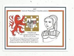 Cp , Congrés Philatélique , 21 Et 22 Octobre 2017 , AVAILLES EN CHATELLERAULT , Vienne ,mariage De Jeanne D'ALBRET - Histoire