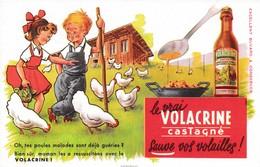 """Buvard Volacrine Castagné Sauve Vos Volailles """"oh Tes Poules Malades Sont Déjà Guéries...déstockage à Saisir - Agriculture"""