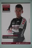 CYCLISME:GIANNI VERMEERSCH - Cyclisme