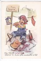 BOURET  GERMAINE,,,,MA NENETTE M' A PREPARE Un De CES SANDWICHS  A  L' AIL !,,,,SERIE  1216  4/2,,,, - Bouret, Germaine