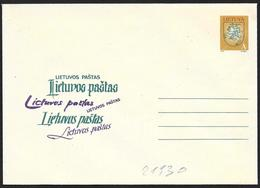 Lituania/Lithuania/Lituanie: Intero, Stationery, Entier, Stemma Nazionale, Armoiries Nationales, National Coat Of Arms - Buste