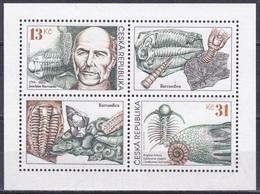 Tschechien Czechia 1999 Wissenschaften Science Geologie Paläontologie Barrande Fossilien Fossils Trilobiten, Mi. 221-2** - Tschechische Republik