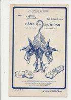PUBLICITE DENTIFRICES GIBBS L ANE DE BURIDAN CPA BON ETAT - Werbepostkarten