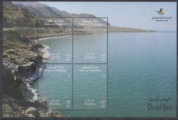 PALESTINE , 2017, MNH, DEAD SEA, MOUNTAINS, SHEETLET - Geography