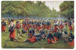 CPA - Carte Postale - Militaria - En Guerre - Zouaves à La Grand'halte  ( M7332) - Régiments