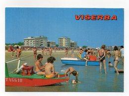 Viserba Frazione Del Comune Di Rimini - La Spiaggia - Animata - Non Viaggiata - (FDC14229) - Rimini