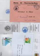 Lot De 6 Lettres - Mairies - Postmark Collection (Covers)