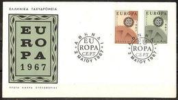 Greece 1967 Europa Cept FDC - FDC