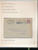 BELGIUM BELGIQUE HOUYOUX CARTE J.INGELSE ANVERS 1930 VERS AUVELAIS - 1922-1927 Houyoux
