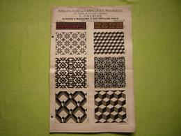 Belle Pub Carreaux Ciment De Portland Mosaïque F. Grenier à Paris 4 Pages - Publicités